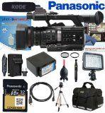 Panasonic AJ-PX270PJ Handheld P2 HD Camcorder w/ Panasonic AJ-P2M032AG 32GB MicroP2 Card, Rode NTG1 Microphone, LED Light
