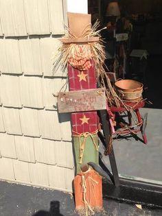 .Scarecrow w/pumpkin