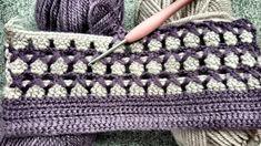 Crochet Two-Color Baby Blanket & Vest Pattern & Knitting Patterns Crochet Stitches Chart, Afghan Crochet Patterns, Knitting Patterns, Baby Afghans, Baby Blanket Crochet, Crochet Baby, Vest Pattern, Crochet Videos, Irish Crochet