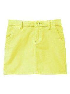 Neon corduroy skirt   Gap