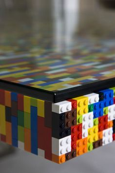 Lego Boardroom Table by abgc Architects.    22,742 pieces of Lego used to make a boardroom table for a Dublin advertising agency.