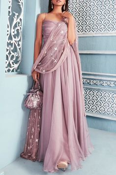 Shop Mahima Mahajan Embroidered Anarkali with Dupatta , Exclusive Indian Designer Latest Collections Available at Aza Fashions Indian Gowns Dresses, Indian Fashion Dresses, Indian Designer Outfits, Designer Dresses, Fashion Outfits, Indian Wedding Outfits, Indian Outfits, Party Wear Lehenga, Ethnic Outfits