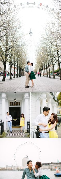 London Engagement Shoot Featuring The Houses Of Parliament, The London Eye And…