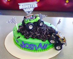 monster jam birthday cakes | Monster Jam Birthday Cake