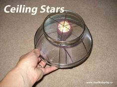 Indoor Camping Ideas for Kids: Ceiling Stars