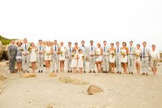 Photography: Josh Adam   Wedding Party   Beach   Rhode Island Wedding   True Event   http://www.trueevent.com http://www.stylemepretty.com/2015/05/19/rhode-island-backyard-wedding/