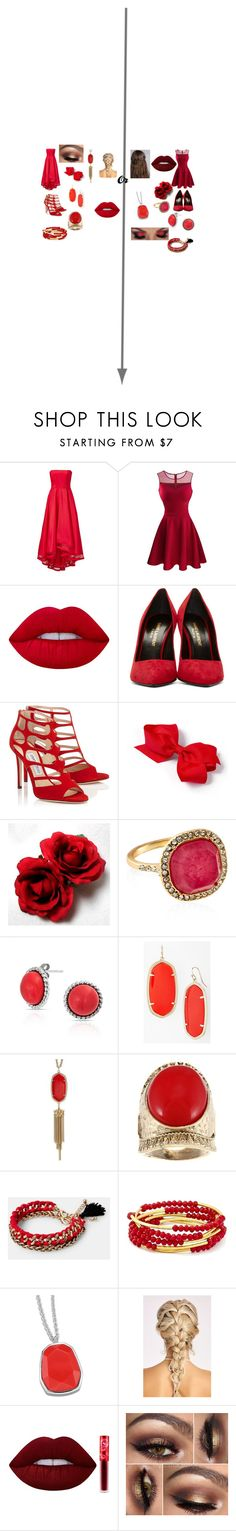 """""""Yule Ball- Gryffindor"""" by adrianarooney on Polyvore featuring Allison Parris, Lime Crime, Yves Saint Laurent, Accessorize, Bling Jewelry, Kendra Scott, MANGO and Chrysalis"""