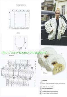 Crochet Patterns Sweter 324 Likes, 31 Comments – Knitting⚪️Sweet of Malinka⚪️DThis Pin was discovered by nit Crochet Cardigan Pattern, Crochet Jacket, Knitting Patterns, Crochet Patterns, Knitting Stitches, Hand Knitting, Diy Crafts Crochet, Chunky Crochet, Crochet Woman
