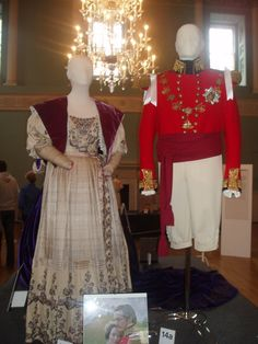 "Uniform worn by Rupert Friend as Prince Albert and Dress worn by Emily Blunt in ""The Young Victoria"", 2009."
