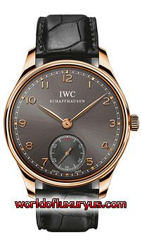 This IWC Portuguese Hand Wound Mens Watch, IW545406 features 44 mm 18kt Rose Gold case, Grey dial, Rose Gold-tone hands, Sapphire crystal, Fixed bezel, and a Alligator/Crocodile Leather Black Strap. IWC Portuguese Hand Wound Mens Watch, IW545406 also features Manual Wind Movement, Analog display. This watch is water resistant up to 30m/99ft. - See more at: http://www.worldofluxuryus.com/watches/IWC/Portuguese/IW545406/185_210_7906.php#sthash.2ocpon09.dpuf