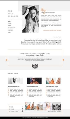 Modern Website Template for Showit Platform - Wordpress Portfolio Theme - Ideas of Wordpress Portfolio Theme - Excited to share this item from my shop: The Rule Breaker Website Design Inspiration, Website Design Layout, Wordpress Website Design, Blog Layout, Portfolio Layout, Website Designs, Website Ideas, Online Portfolio Design, Interior Design Website