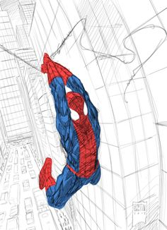 Ultimate Spiderman by PatBoutin.deviantart.com on @deviantART ★ || Please support the artists and studios featured here by buying this and other artworks in their official online stores • Find us on www.facebook.com/CharacterDesignReferences | www.pinterest.com/characterdesigh | www.characterdesignreferences.tumblr.com |  www.youtube.com/user/CharacterDesignTV and learn more about #concept #art #animation #anime #comics || ★