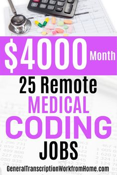 Medical coders earn an average salary of $40,350 per year. Medical coding and billing is an excellent career that is in high demand. Find out how to get started in medical coding   20 companies that have remote medical billing and coding jobs.  #medicalbilling #medicalcoding #medicalbillingandcoding #medicalcodingjobs #medicalbillingjobs #medicalbillingandcodingfromhome #workfromhome #workathome #onlinejobs Medical Coder, Medical Billing And Coding, Medical Careers, Online Side Jobs, Best Online Jobs, Pharmacy Assistant, Coding Training, Health Information Management, Healthcare Jobs