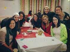 14s arrive at the house for Gingerbread House making sisterhood event!!