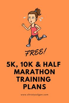 Free beginner and advanced training plans + a and half marathon training plan! 10km Training Plan, Marathon Training Plan Beginner, Training For A 10k, Weight Training, Half Marathon In Km, 10k Running Plan, Running Workouts, Running Routine, Running Tips
