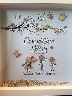 PERSONALISED BESPOKE BOX MEMORY FRAME FAMILY GRANDCHILDREN GRANDPARENTS