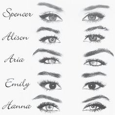 If you're a die-hard fan, automatically know who's eyes are who's.
