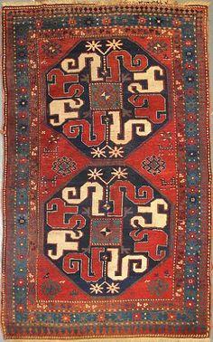 Caucasian Kazak cloudband rug