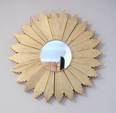 Art deco like mirror made with shims!