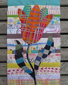 A Kim McLean Flower Garden block, by Cathy of Cabbage Quilts