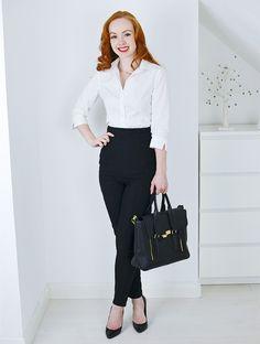 How to wear white shirt classy 19 trendy ideas White Shirt Outfits, White Shirts, Nice Outfits, Work Outfits, Sexy Outfits, Fall Outfits, Casual Outfits, Classic White Shirt, Black And White Shirt