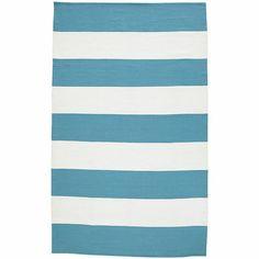 Cabana Stripe Rugs - Turquoise