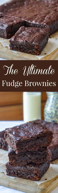 Fudge Brownies, this recipe for the ultimate best fudgey brownies starts with a boiled fudge base to ensure dense, chocolatey, decadent brownies every time.