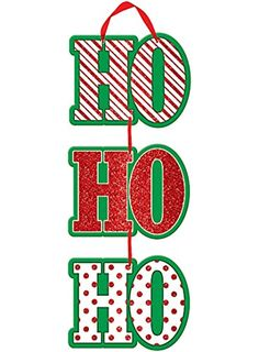 Ho Ho Ho Christmas Sign 18 Inches *** You can get more details by clicking on the image.  This link participates in Amazon Service LLC Associates Program, a program designed to let participant earn advertising fees by advertising and linking to Amazon.com.