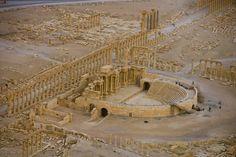 YannArthusBertrand2.org - Fond d écran gratuit à télécharger || Download free wallpaper - Théâtre romain, cité antique de Palmyre, Syrie (34°33' N - 38°16' E).