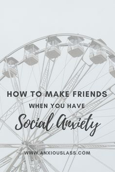 Striking a conversation with complete strangers can be one of the most difficult tasks for someone with social anxiety.