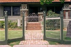 4 Exquisite Cool Tips: Garden Fence Shelf Backyard Tall Fence.Garden Fence Lighting Ideas Garden Fence On Sale. Gabion Fence, Brick Fence, Front Yard Fence, Farm Fence, Fenced In Yard, Bamboo Fence, Metal Garden Gates, Garden Fencing, Metal Fence