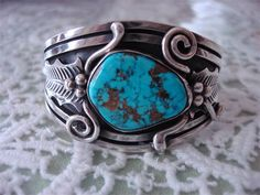 Sterling silver cuff bracelet. I just love stuff like this.
