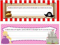 Name Tags - Princesses and Pirates Theme -  Teachers Pay Teachers