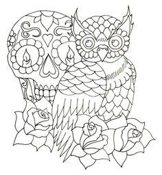 skull and owl - MUITO AMOR!!