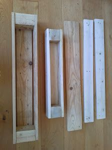 Maceteros a partir de dos palets | Bricolaje Ideas Terraza, Patio, Backyard, Palette, Diy Garden Projects, Towel, Christmas Ornaments, Wood, Furniture