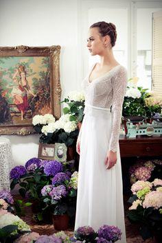 Beautiful!!!! long sleeves wedding dress. Tali Handel 2013 collection