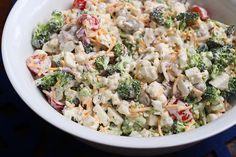 Easy and delicious recipe for broccoli salad.