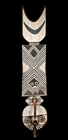 Africa | Nwantantay mask from the Do society of the Bwa people of Burkina Faso | Wood and paint