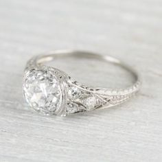 Image of 1.95 Carat Art Deco Engagement Ring