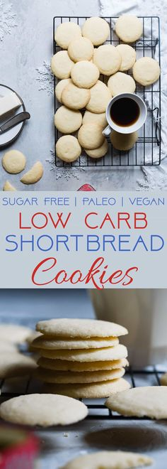 These Paleo Whipped Gluten Free Shortbread Cookies melt in your mouth and are only 60 calories! Secretly sugar free, healthy and vegan/keto friendly too! Gluten Free Shortbread Cookies, Vegan Shortbread, Chocolate Shortbread Cookies, Healthy Cookies, Keto Cookies, Healthy Sugar, Healthy Gluten Free Recipes, Keto Recipes, Eggless Recipes