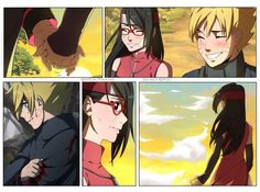 Boruto sent a shadow clone to Sarada so he could tell her he's alright- but she knows he's not. Special mention to Borusara Discord fams Anime Naruto, Naruto Cute, Naruto And Sasuke, Naruto Shippuden, Naruhina, Sarada E Boruto, Narusaku, Naruto Couples, Cute Anime Couples