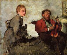 EDGAR DEGAS: Violoniste et jeune femme tenant un cahier de musique (1970-72)