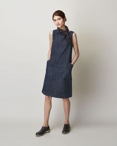 Women's Denim Sleeveless Dora Dress
