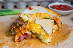 Ham and Egg Breakfast Quesadillas [High-protein, Mexican, Savory] Best Breakfast Recipes, Breakfast Time, Brunch Recipes, Breakfast Wraps, Mexican Breakfast, Ham Recipes, Breakfast Quesadilla, Quesadilla Recipes