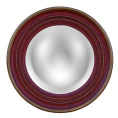 Hickory Manor House Maiden Convex Mirror in Aged Red Gold