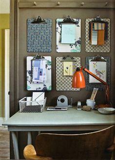 Desk organization. CLIP BOARDS