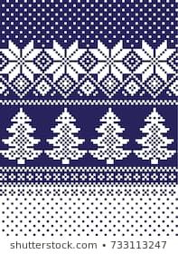 New Years Christmas Pattern Pixel Stock-Vektorgrafik (Lizenzfrei) 733113247 Knitting Patterns Free Dog, Knitted Mittens Pattern, Knitting Needle Sets, Knitting Charts, Crochet Patterns, Christmas Stocking Pattern, Christmas Knitting, Christmas Patterns, Crocodile Stitch