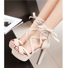Women High Heels Lace Up Flat Sandals Sandals Uk Cute Flats Women High – cranberrytal High Heels Boots, Cute High Heels, Mid Heel Shoes, Lace Up High Heels, Platform High Heels, Black High Heels, Thigh High Boots, High Heel Pumps, Womens High Heels