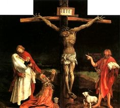 Matthias Grünewald Christ on the Cross (detail from the central Crucifixion panel of the Isenheim Altarpiece).