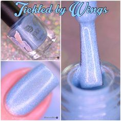 Grace-full Nail Polish Tickled by Wings Mani Pedi, Manicure, Acryl Nails, Simple Nails, All The Colors, Fun Nails, Favorite Color, Swatch, Indie
